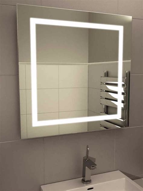Light Bathroom Mirror 28 Bathroom Lighting Bathroom Mirror Led Rectangular Mirror Light In Matt Nickel Or