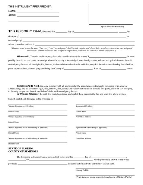 florida quit claim deed form template best photos of missouri quit claim deed pdf quit claim