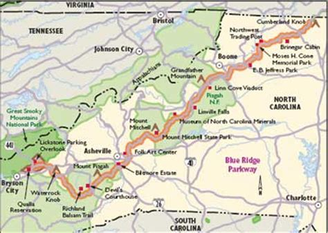 blue ridge mountains map carolina scenic drives blue ridge parkway