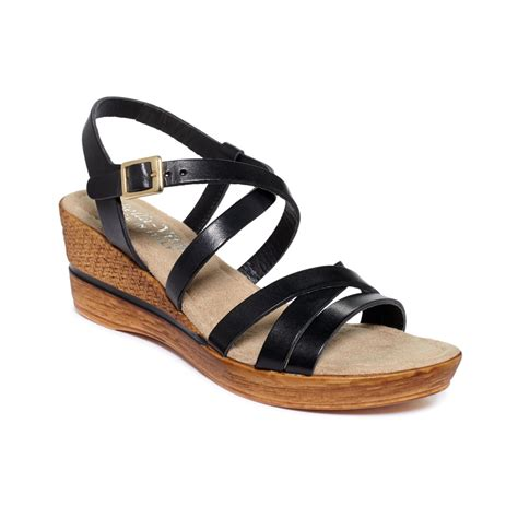 vita italian collection bacio platform wedge sandals