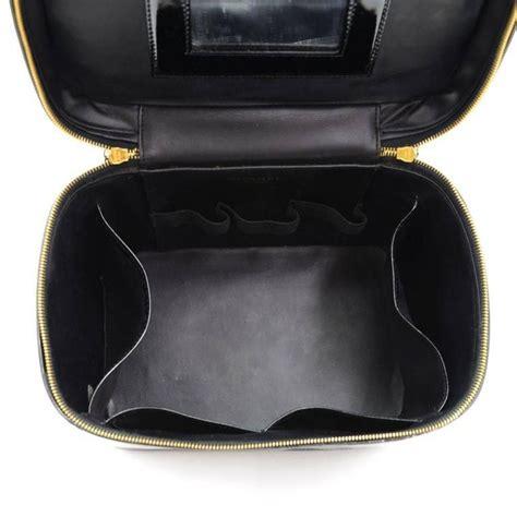 Jual Tas Bag Chanel Lining Ori Leather Mirror Biru chanel black patent leather large jewelry travel top handle bag at 1stdibs
