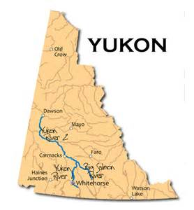 map of the yukon territory in canada maps of yukon territory