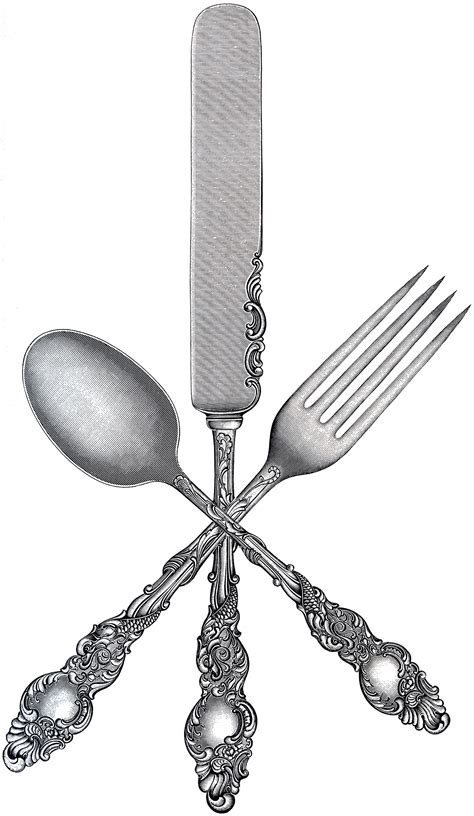 arts clipart free fork spoon knife clip the graphics