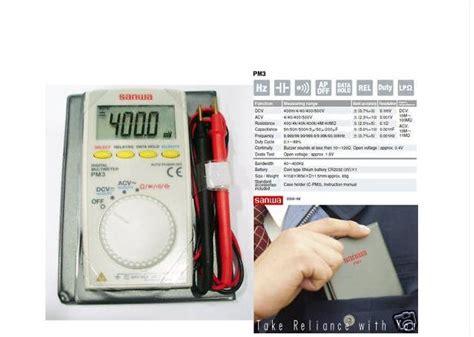 Murah Sanwa Pm3 Digital Multimeter pm3 sanwa digital multimeter with multi function