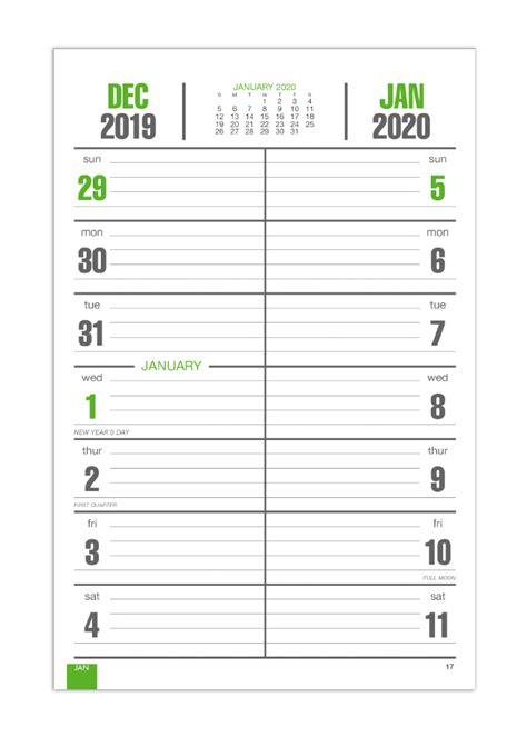 bi weekly memo board image calendar    imprinted board calendars