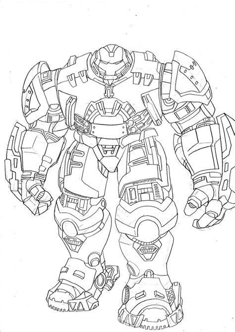 hulkbuster coloring page free ironman hulk buster free colouring pages