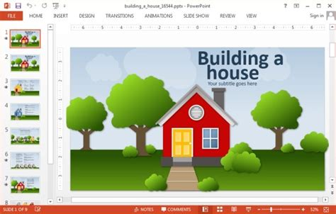 house powerpoint template animated house powerpoint templates