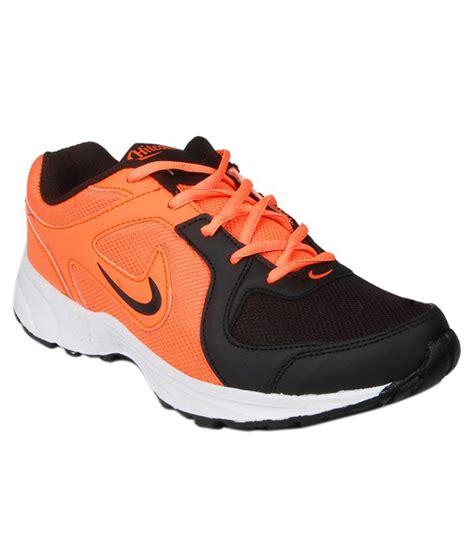 hitcolus orange black running sports shoes price in