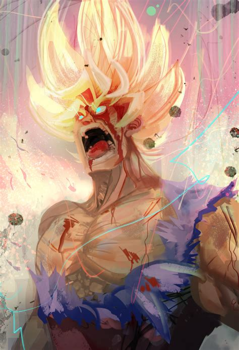 painting goku ssj2 goku fanart by daidus on deviantart