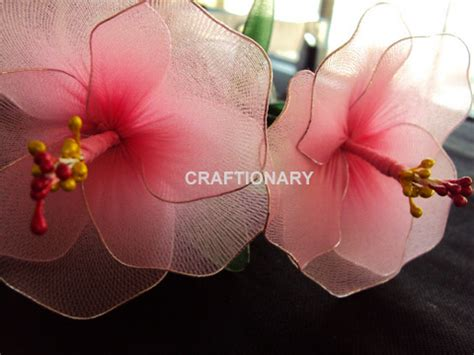 homemade flowers learn to make easy diy nylon flowers tutorials