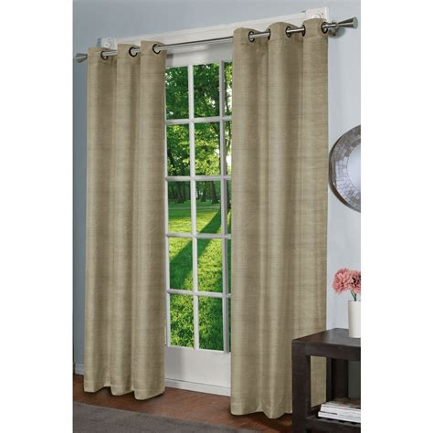 lowes window curtains design decor 84 in l thermal energy saving taupe window