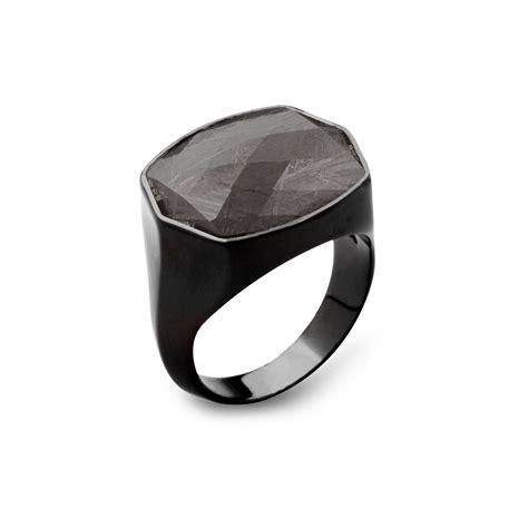 Ring D 3 Cm Black Nickel sterling silver meteorite ring black nickel finish grand touch of modern
