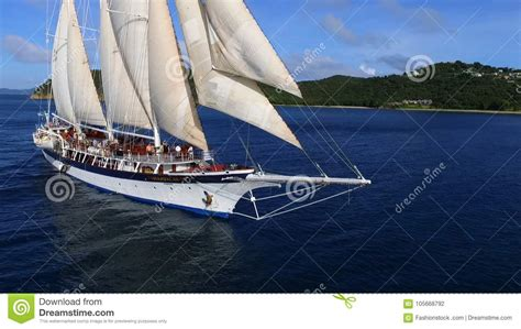 sailboat retro vintage retro classic old sailboat sailing on dark blue