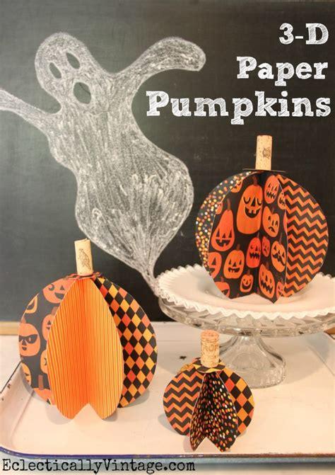 How To Make 3d Paper Pumpkins - 3d paper pumpkin craft tutorial