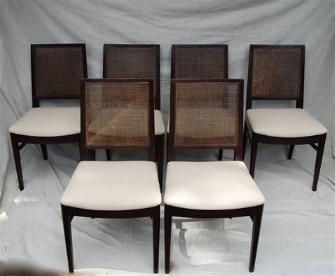 Stuart Chairs by Stuart Set Of 8 Ebonized Dining Chairs At 1stdibs