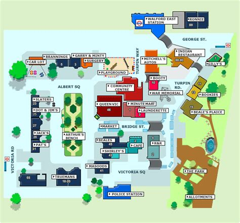 Mitchell Homes Floor Plans image albert square map 14 gif eastenders wiki