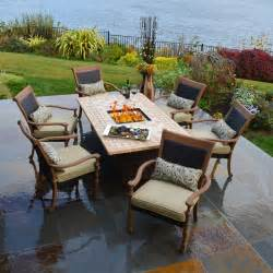 patio furniture with pit table outdoor pit table and chairs marceladick
