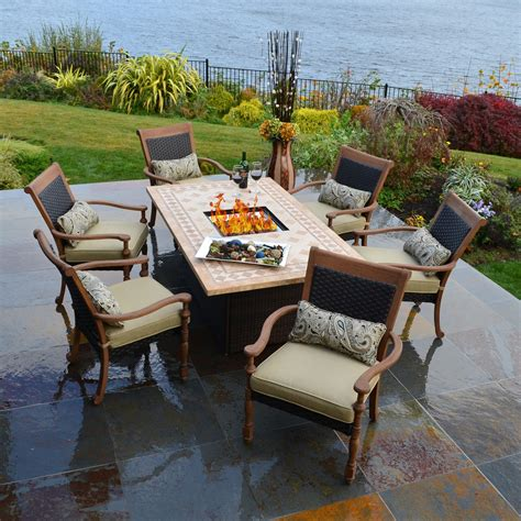 Patio Set With Firepit Table Outdoor Pit Table And Chairs Marceladick