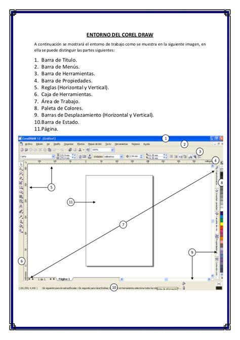 corel draw x5 y sus partes entorno del coreldraw