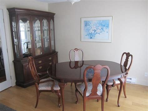 solid cherry dining room set solid cherry wood dining room set with hutch qualicum nanaimo mobile