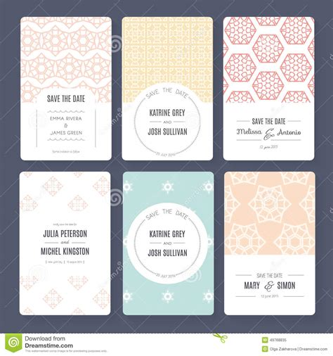save the date collection stock vector image 49768835