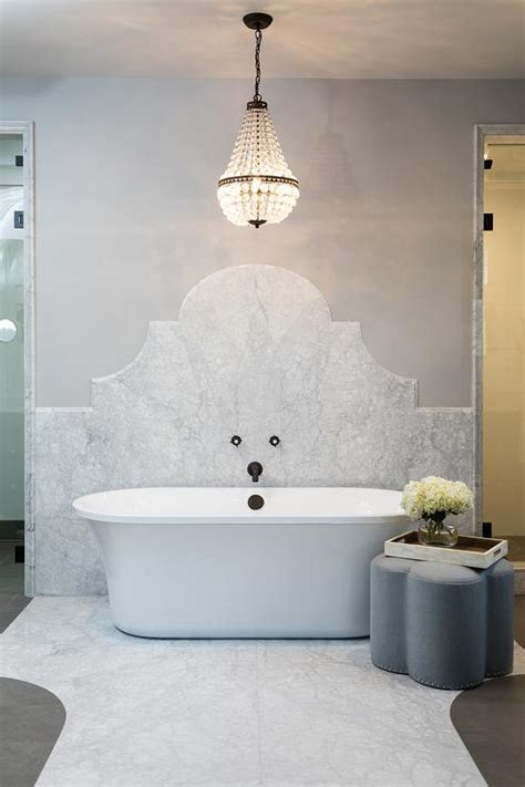 french chandelier  tub design ideas