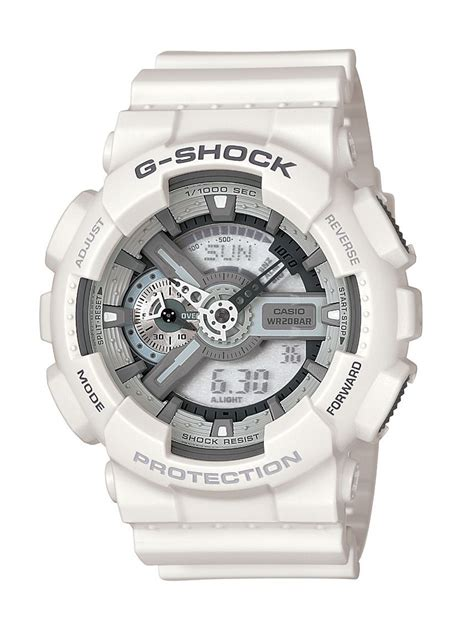 casio g shock white mens in silver for white