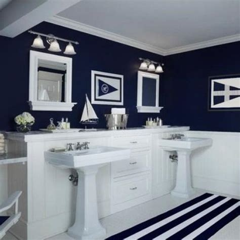 30 Modern Bathroom Decor Ideas Blue Bathroom Colors And Nautical Bathroom Designs