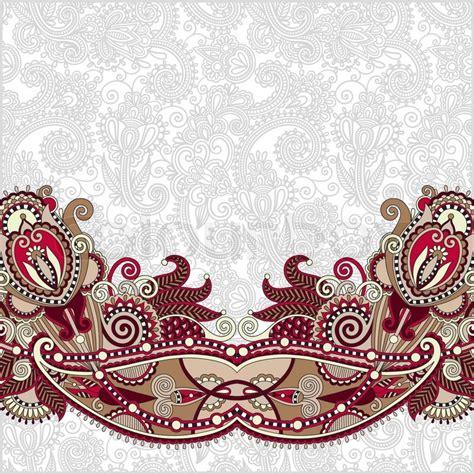 Designer Home Decor India Paisley Design On Decorative Floral Background For