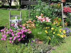 plantscapes cottage garden with plant key