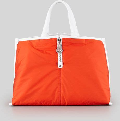 Moncler Oversized Coussin Lacquered Handbag by Moncler Amelie Tote Bag Orange In Orange Lyst