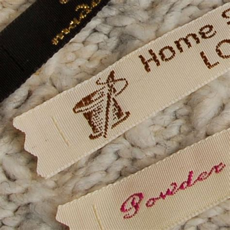 Handmade By Labels Personalised - woven craft labels for handmade knitting crochet gb
