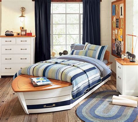 sailboat bed speedboat bed pottery barn kids eclectic kids by