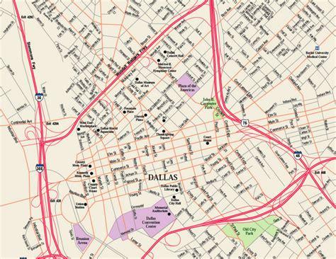 dallas city map texas downtown dallas map dallas tx mappery