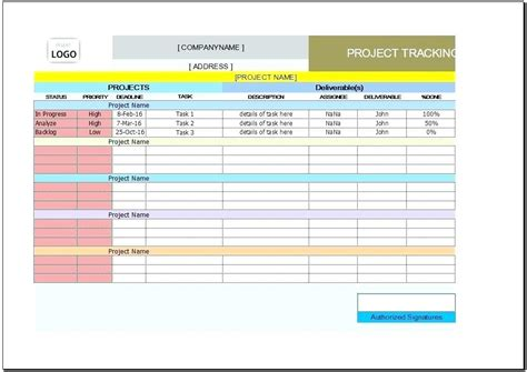 project tracking template project management template excel free project tracking in