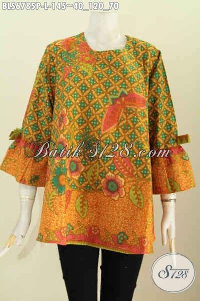 Celana Batik Wanita Modern 120 Fs baju batik lengan pakai pita busna batik trendy wanita masa kini baju batik modern wanita