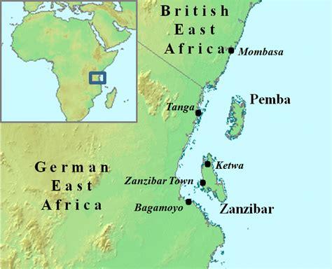 africa map zanzibar zanzibar map africa