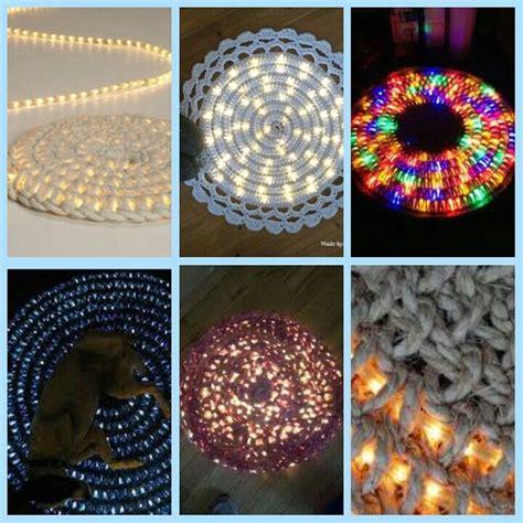 Rope Light Crochet Rug by Light Rope Crocheted Rugs Crochet Rugs