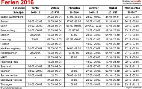 osterferien wann ferien 2016 in deutschland alle bundesl 228 nder
