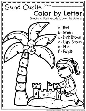 Summer Alphabet Worksheets Lessons For Summer Preschool Worksheets Preschool Colors Letter