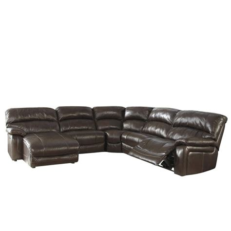5 piece leather sectional ashley furniture damacio 5 piece leather reclining