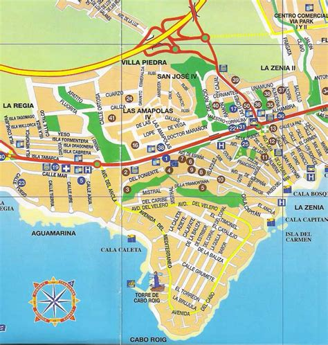 la zenia hotel cabo roig map of cabo roig spain road map