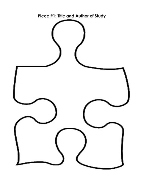 template for puzzle pieces puzzle pieces template free clipart best