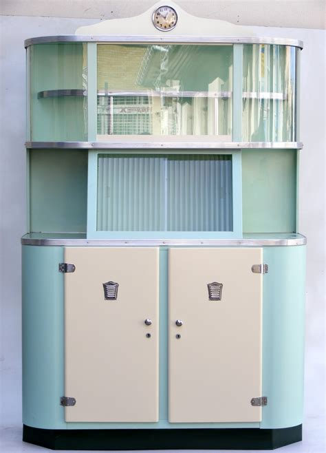 Retro Cabinets Kitchen Lovely Blue And White Colors For Retro Cabinets With White Doors And Clear Glass Panels Above