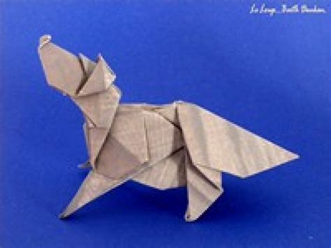 how to make a origami wolf origami wolf 28 images pin origami wolf step pictures