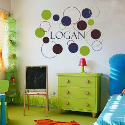 wall stickers boy bedroom boys dots and circles wall decal by alphabet garden designs