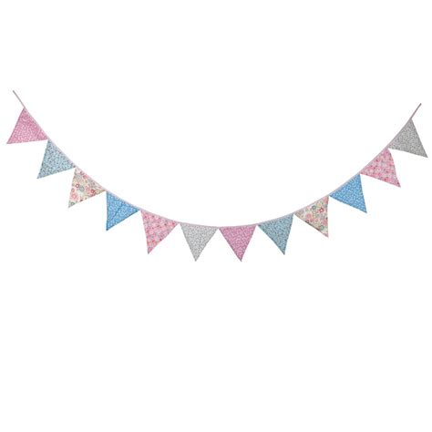 Bunting Flag Banner Flag Segitiga Avangers aliexpress buy new 12 flags 3 2m cotton pink blue flower fabric banners vintage bunting