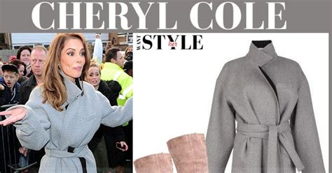where does cheryl burton buy her clothes cheryl cole in grey wool belted coat and beige suede boots