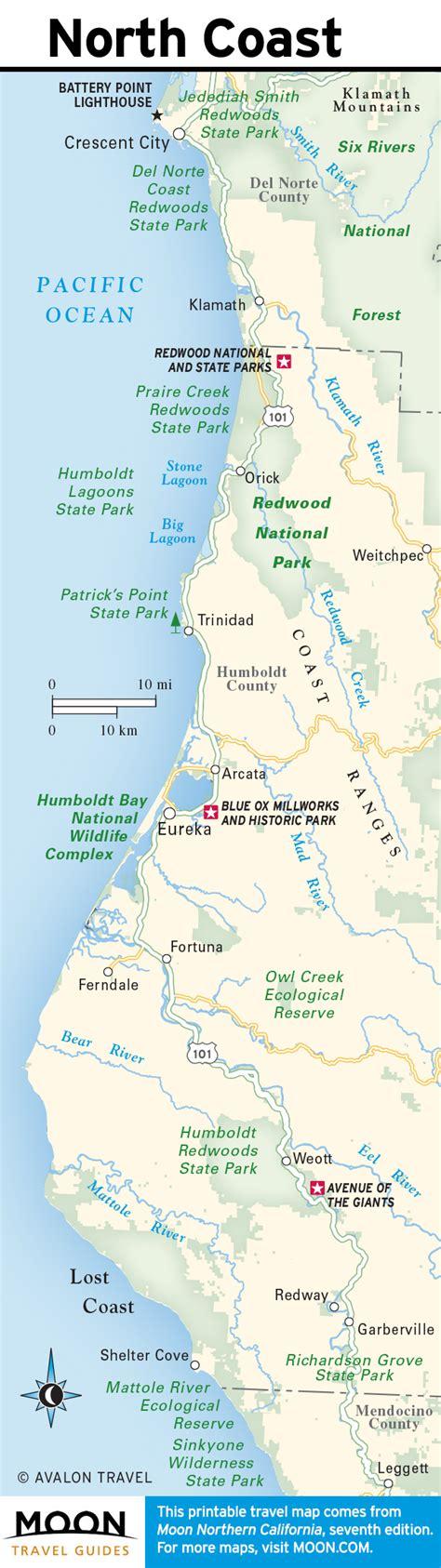 california map northern coast 5 best restaurants on a northern california coast road trip