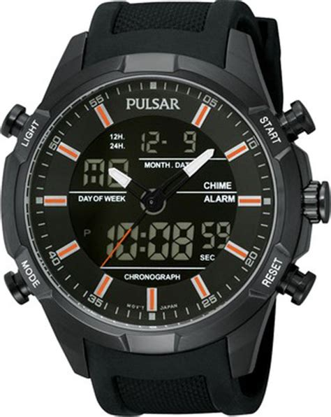 pnp pw6007x1 pulsar mens analogue digital chronograph